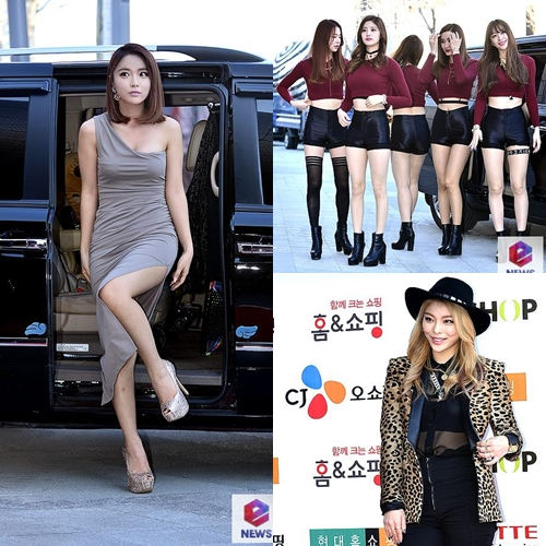 [케이블TV 방송대상] EXID-에일리-홍진영, 인기 가수상 수상