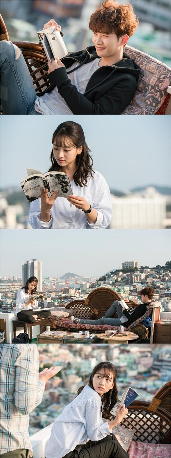 '그냥 사랑하는 사이' 이준호♡원진아, 점점 가까워지는 두 사람 '옥상 위 설렘'