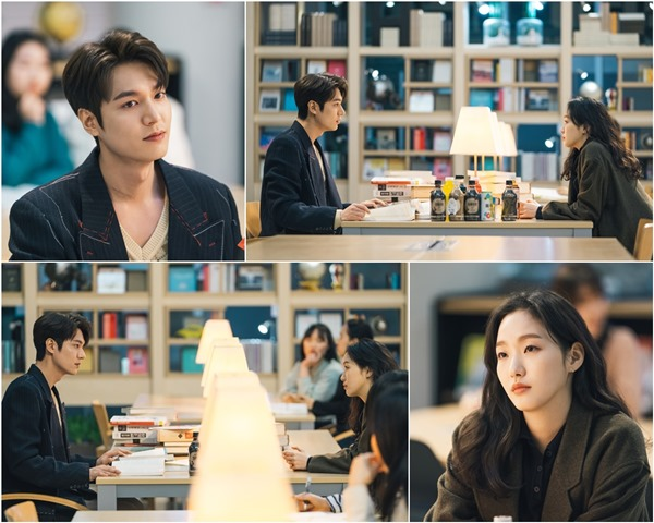 '더킹' 이민호-김고은, 첫만남의 순간..설렘 폭발 도서관 눈맞춤